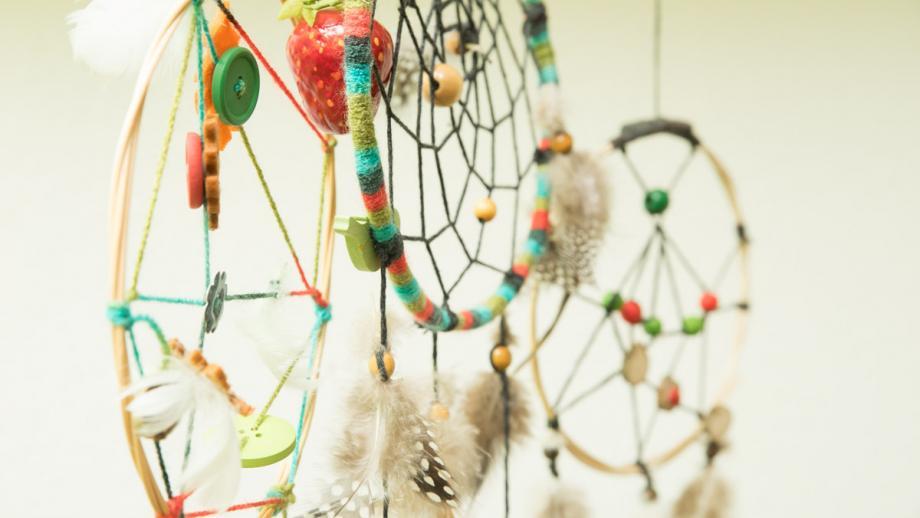 Traumfänger, gefertigt im Kreativbereich des Projekts Perspektive