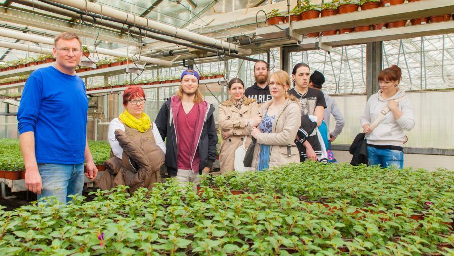Projekt Perspektive zu Besuch in der Gärtnerei