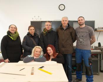 Stand Up - Team mit Jugendrichter Seitz und Frau Bochmann
