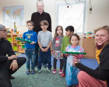Übergabe Weihnachtsdeko Bürgerhilfe Sachsen